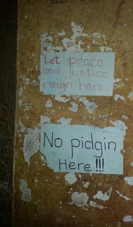 affiche à l'école de la prison de Bamenda